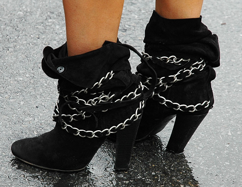 Givenchy Suede Chain Booties Fall/Winter 09/10 Trend
