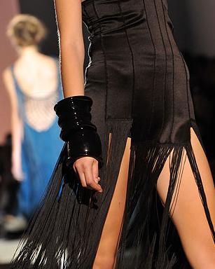 Alberta Ferretti Fall/Winter 09/10 Fashion Trend Black Statement JEwelry BRacelet