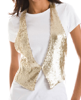 Armani Exchange Gold Sequin Tuxedo Vest Fall 2009 Trend