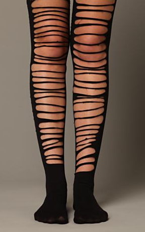 Patterned Tights Free People Torn Tights