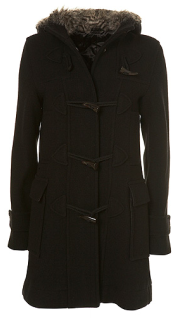 Top Shop Furry Hood Duffle Coat Winter 2010