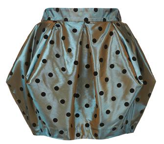 Top Shop Spot Taffeta Point Skirt Winter 2010
