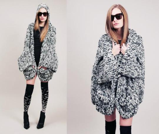 chunky, hooded knit cardigan. so snuggles. – ally cat's meow