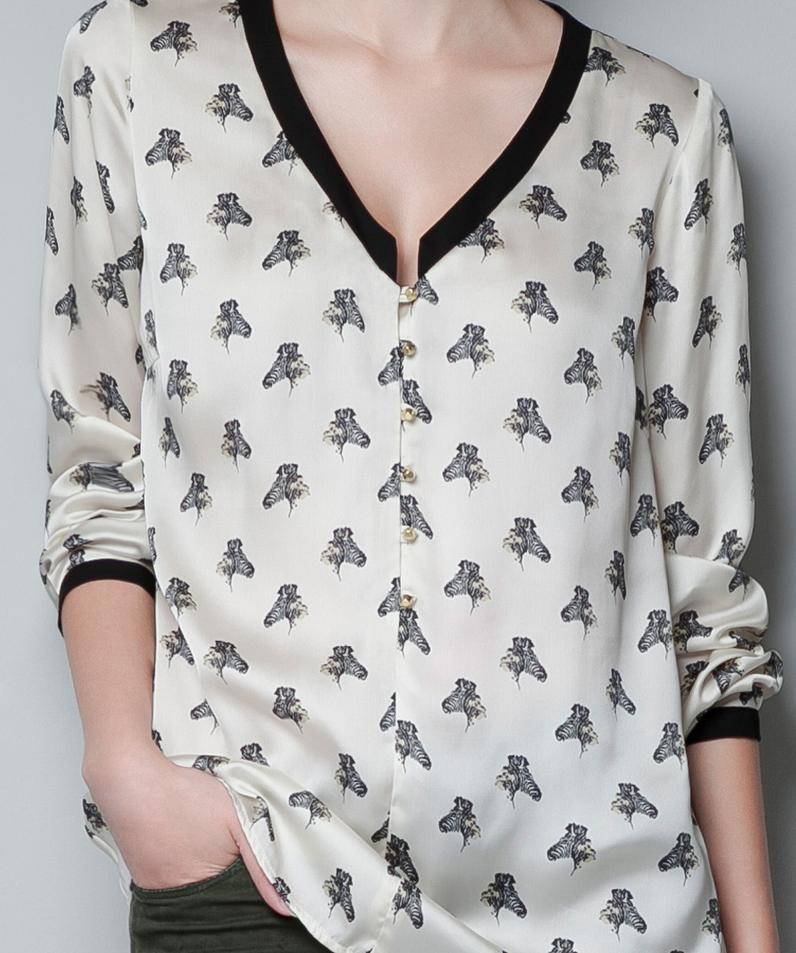 Zara Zebra Print Blouse 113